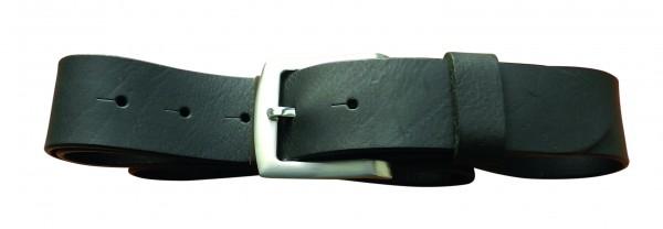 Schwarzer Gürtel mit Dornschließe