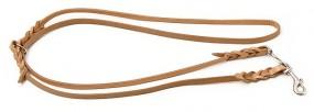 Umhängeleine verstellbar Flachleder 18 mm (3 in 1)