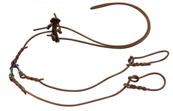 Doppelleine Ovalleder Horn lautlos 7/9mm