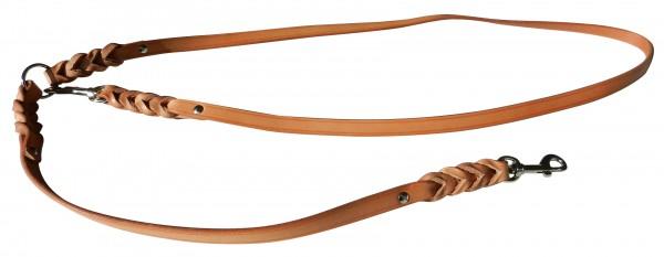 Umhängeleine verstellbar Flachleder 12 mm (3 in 1)